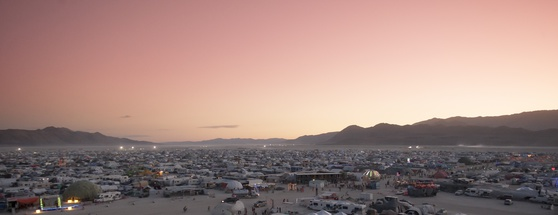 Burning Man festival camping sites