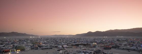 Burning Man festival camping sites