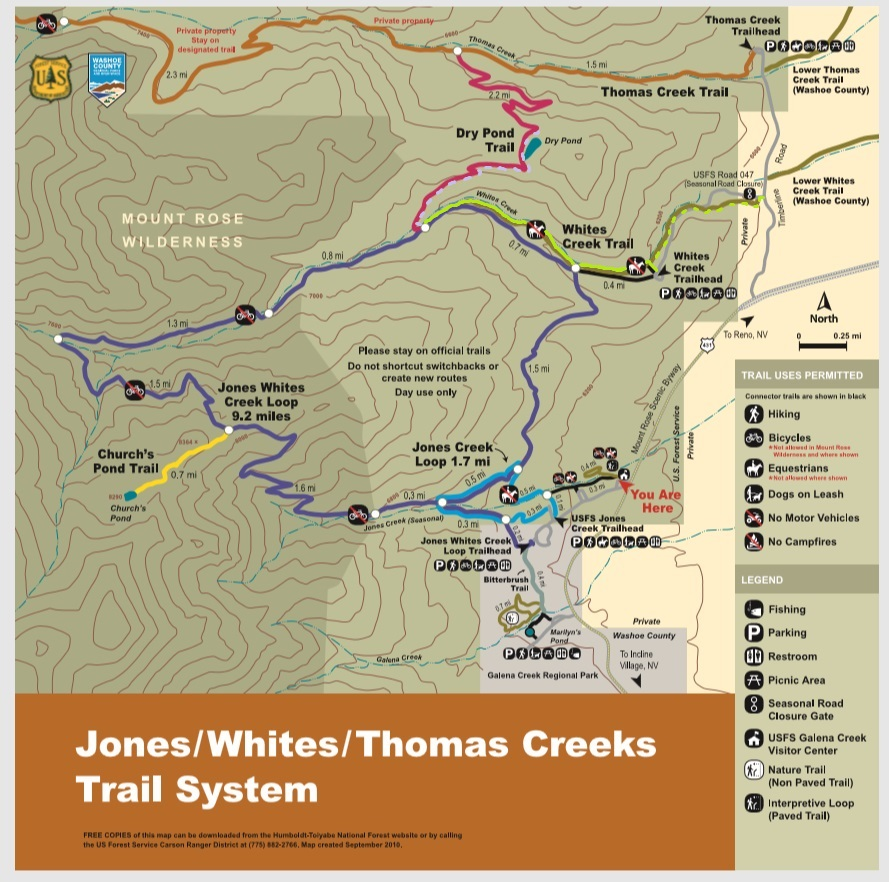 Galena White Creek Trail map